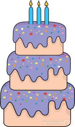 Birthday Clipart- three-tier-birthday-cake-frosting-clipart ...