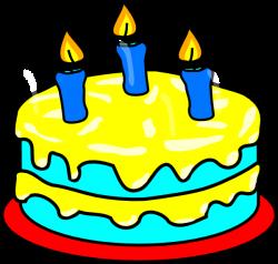 Yellow Three Candle Cake Clip Art at Clker.com - vector clip art ...
