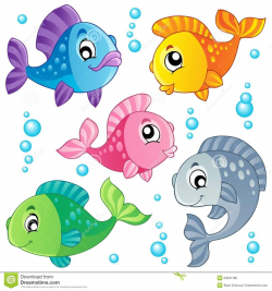 cute fish clip art | Various cute fishes collection 3 - vector ...