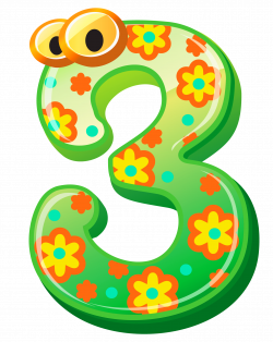 Cute Number Three PNG Clipart Image | Gallery Yopriceville - High ...