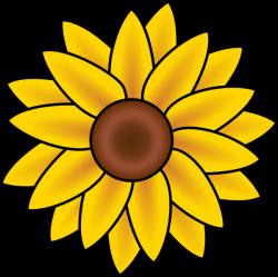 Free Printable Sunflower Stencils   Sunflower clip art - vector clip ...