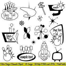 1950s ClipArt Signs | Semi | Pinterest | 1950s, Mid century and Retro