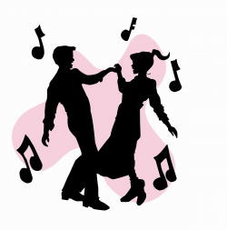 50s Sock Hop Dancers Silhouettes Clipart | Homecoming Ideas ...