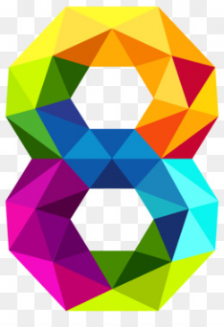 Triangular number Triangle Clip art - Colourful Triangles Number Two ...