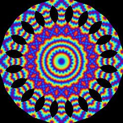 Clipart - Colourful mandala 7