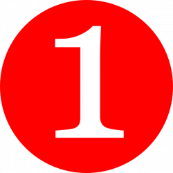 Red, Rounded,with Number 1 Clip Art at Clker.com - vector clip art ...