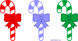 Three Christmas Candy Canes Clipart - Sweet Clip Art