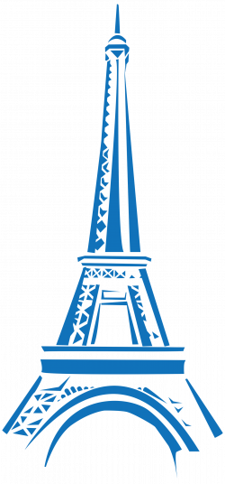 Eifel Tower Blue Clipart transparent PNG - StickPNG