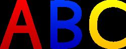 ABC Alphabet Letters - Free Clip Art