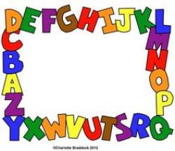 Printable ABC border. Use the border in Microsoft Word or other ...