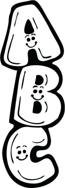 Abc Clipart Black And White - Letters