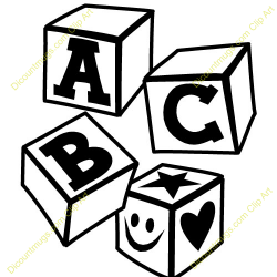Abc Clip Art Black And White | Clipart Panda - Free Clipart Images