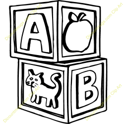 Abc Blocks Clipart Black And White | Clipart Panda - Free Clipart Images