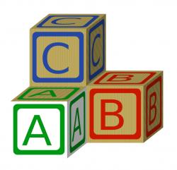 ABC Building Blocks Clipart - Clip Art Bay