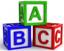 Letter Building Blocks - Letters Font