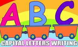 ABCD Capital Letters | HD Learn Cursive Writing | Kindergarten Learn ...