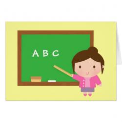 ABC Chalkboard, Thank You, Teacher Appreciation Card | Zazzle.com