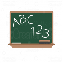 ABC Chalkboard SVG Cut File & Clipart