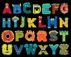 Custom designed monster alphabet for Psychobaby. | School related ...