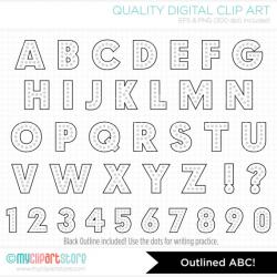 Alpha - Rainbow Dot Alphabet Clipart - Party Lights ABC / Retro ...