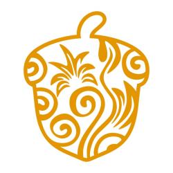 Acorn Art Cuttable Design