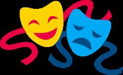 Comedy and Tragedy Masks - Free Clip Art | Taller de Teatro Campo de ...