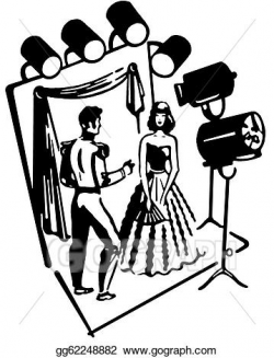 Stock Illustrations - A black and white version of a man and woman ...