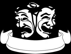 drama-masks-clip-art-1159741.png | Acting class | Pinterest | Acting ...
