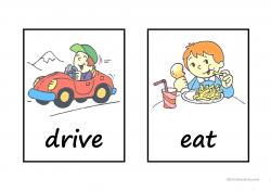action words bingo worksheet - Free ESL printable worksheets made by ...