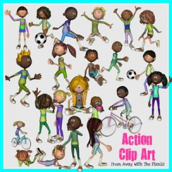 Action Verbs Clip Art for Teachers - Now With Blacklines! by ...