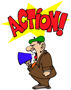 Movie Director Action Shout | Clipart Panda - Free Clipart Images