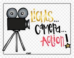 Light Camera Art Clip art - Hollywood Lights Cliparts png download ...