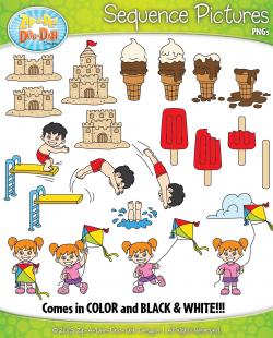 Summer Sequence Action Pictures Clipart {Zip-A-Dee-Doo-Dah Designs ...