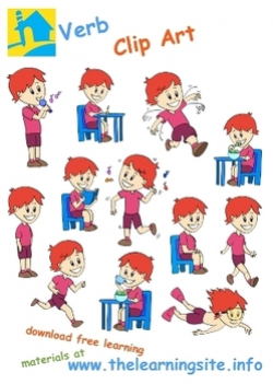 Verbs / Action Words Clip Art by The Learning Site | TpT