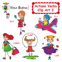 Action Verbs Clipart Worksheets & Teaching Resources | TpT