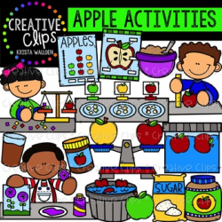 Apple Activities Clipart {Creative Clips Clipart} | TpT