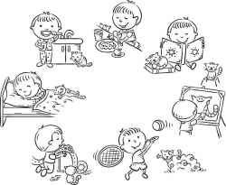 28+ Collection of Activities Clipart Black And White | High quality ...