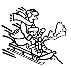 28+ Collection of Winter Activities Clipart Black And White | High ...