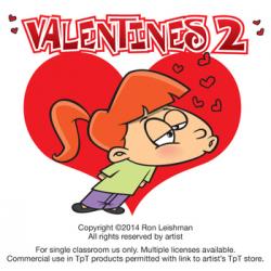 Valentines Cartoon Clipart Vol. 2 by Ron Leishman Digital Toonage