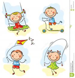 Outdoor clipart cartoon - Pencil and in color outdoor clipart cartoon