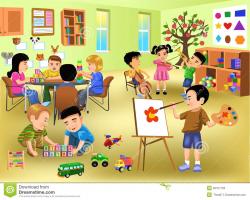 Kindergarten Classroom Clipart