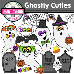 Ghost Cuties Halloween Clipart | Halloween clipart and Crafts