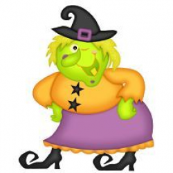 Halloween Witch with Cauldron PNG Clipart | Halloween printables ...