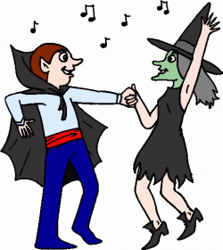 28+ Collection of Halloween Dance Party Clipart | High quality, free ...