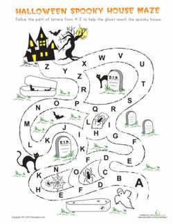 Halloween Maze | Maze, Worksheets and Activities
