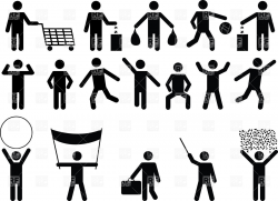 Human clipart human activity - Pencil and in color human clipart ...