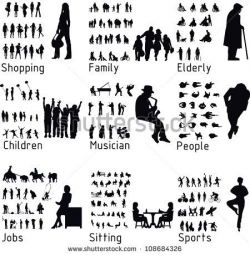 All people activity silhouettes. Vector illustration | ideas ...