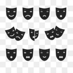 Drama Theatre Mask Performance Clip art - Acting Cliparts png ...