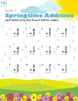 Springtime Addition | Worksheet | Education.com
