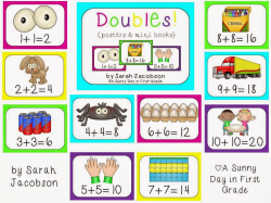 A Sunny Day in First Grade: Math Monday {Doubles!}